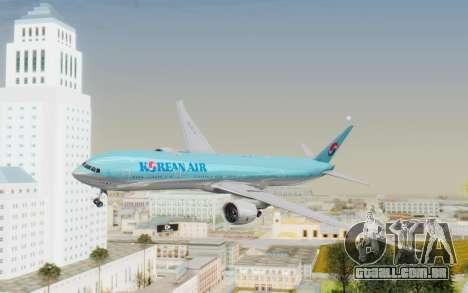 Boeing 777-300ER Korean Air para GTA San Andreas