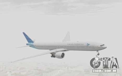 Boeing 777-300ER Garuda Indonesia para GTA San Andreas traseira esquerda vista