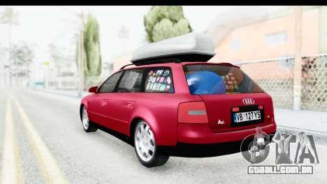 Audi A6 C5 Avant Sommerzeit para GTA San Andreas traseira esquerda vista