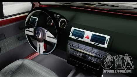 Volkswagen Golf VeloCiti 2008 Updated para GTA San Andreas vista interior
