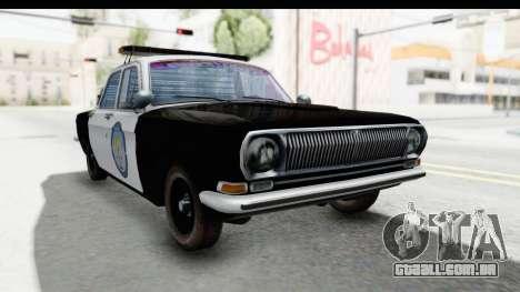 ГАЗ 24 de Polícia rodoviária Patrol para GTA San Andreas vista direita