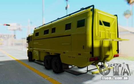 GTA 5 HVY Brickade para GTA San Andreas vista direita