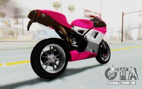 Ducati 1098R High Modification para GTA San Andreas vista direita