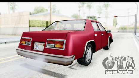 Ford Fairmont from Bully para GTA San Andreas traseira esquerda vista
