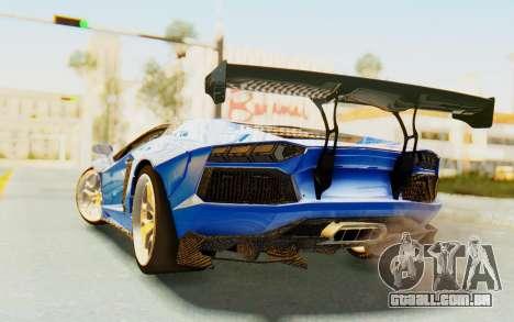 Lamborghini Aventador LP700-4 LB Walk Fenders para GTA San Andreas vista direita