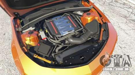 GTA 5 Chevrolet Camaro SS 2016 v2.0 vista lateral direita