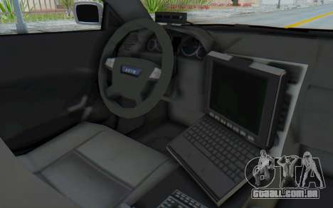 ASYM Desanne XT Pursuit v3 para GTA San Andreas vista interior