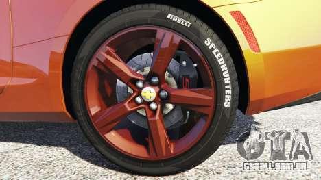 GTA 5 Chevrolet Camaro SS 2016 v2.0 traseira direita vista lateral
