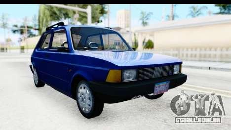 Fiat 147 Spazio TR Stock para GTA San Andreas
