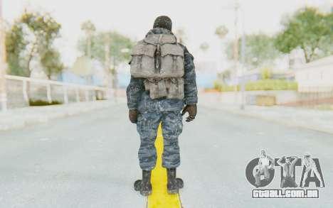 COD BO Russian Soldier Winter Balaclava para GTA San Andreas terceira tela