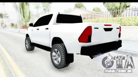 Toyota Hilux 2016 para GTA San Andreas esquerda vista
