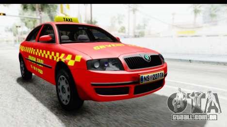 Skoda Superb Táxi Vermelho para GTA San Andreas