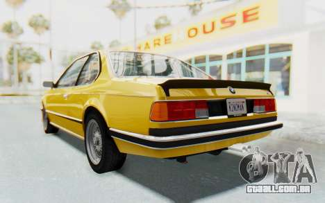 BMW M635 CSi (E24) 1984 HQLM PJ2 para GTA San Andreas vista direita