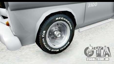 Chevrolet 3100 Diesel v1 para GTA San Andreas vista traseira