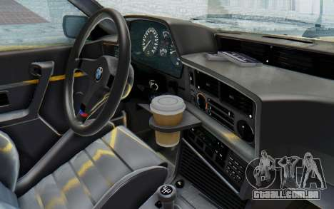 BMW M635 CSi (E24) 1984 HQLM PJ2 para GTA San Andreas vista interior