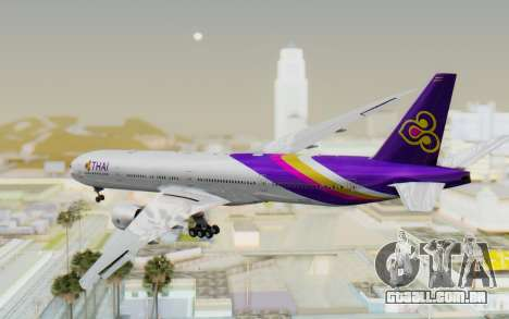 Boeing 777-300ER Thai International Airways para GTA San Andreas esquerda vista