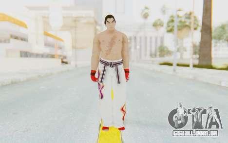 Kazuya Mishima Skin para GTA San Andreas segunda tela