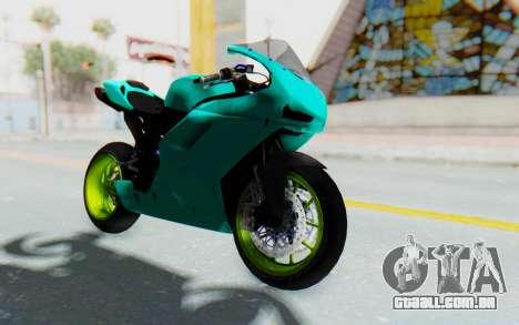 Ducati 1098R Streetrace para GTA San Andreas vista direita