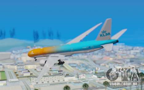 Boeing 777-300ER KLM - Royal Dutch Airlines v4 para GTA San Andreas esquerda vista