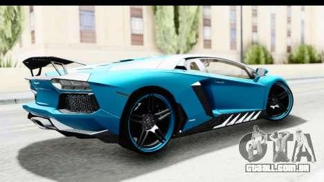 Lamborghini Aventador LP700-4 Novitec Torado para GTA San Andreas esquerda vista