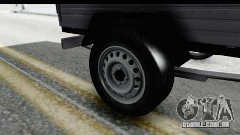 Volkswagen T4 Trailer para GTA San Andreas vista traseira