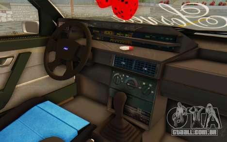 Fiat Tempra Special TR para GTA San Andreas vista interior