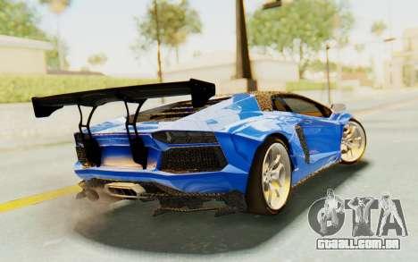 Lamborghini Aventador LP700-4 LB Walk Fenders para GTA San Andreas esquerda vista