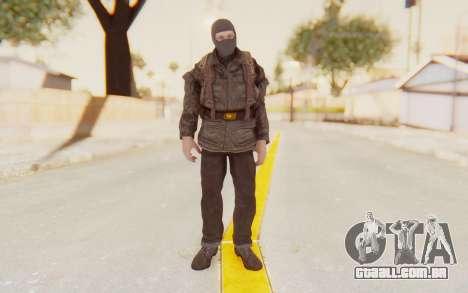 COD BO Russian Soldier Balaclava para GTA San Andreas segunda tela