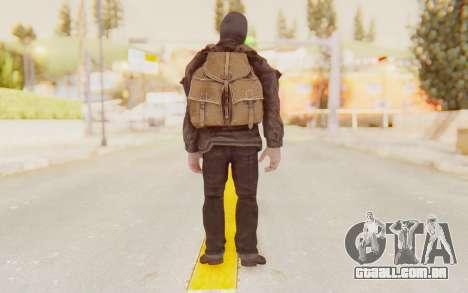 COD BO Russian Soldier Balaclava para GTA San Andreas terceira tela