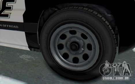 Canis Seminole Police Car para GTA San Andreas vista traseira