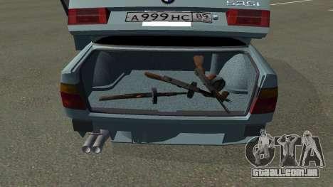 BMW 535i Gang para GTA San Andreas traseira esquerda vista