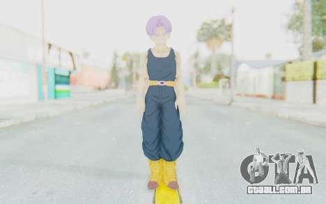 Dragon Ball Xenoverse Future Trunks Shirt para GTA San Andreas segunda tela
