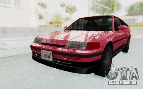 Dinka Blista Compact 1990 para GTA San Andreas traseira esquerda vista