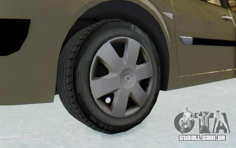 Renault Megane 2 para GTA San Andreas vista traseira