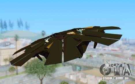 GTA 5 UFO B-2 Style para GTA San Andreas traseira esquerda vista