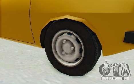 Dacia 1310 para GTA San Andreas vista traseira