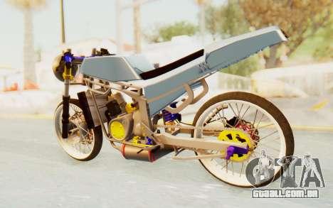 Kawasaki Ninja 150S Thailock para GTA San Andreas esquerda vista