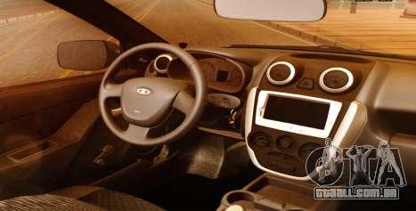 Lada Granta Liftback Beta v1 para GTA San Andreas vista direita