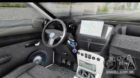Fiat Punto Mk2 Policija para vista lateral GTA San Andreas