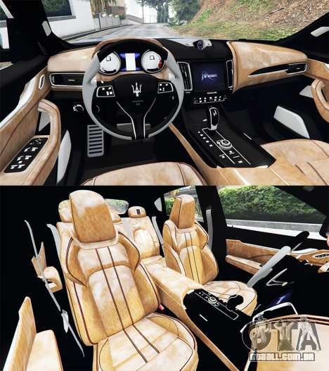 GTA 5 Maserati Levante 2017 [add-on] traseira direita vista lateral