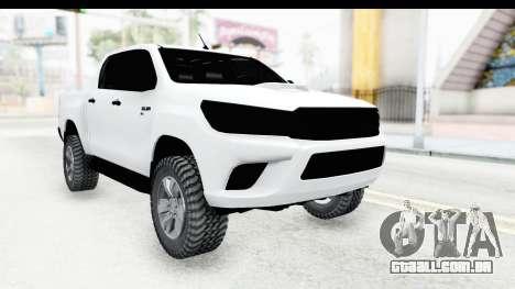Toyota Hilux 2016 para GTA San Andreas