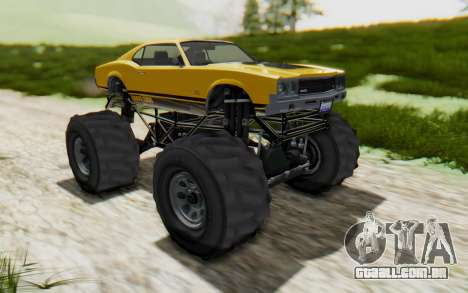 Declasse Sabre Turbo XL para GTA San Andreas vista direita