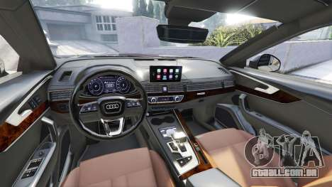 GTA 5 Audi A4 2017 [add-on] v1.1 frente vista lateral direita
