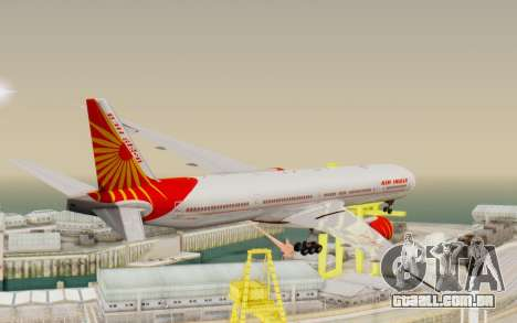 Boeing 777-300ER India Air para GTA San Andreas vista direita