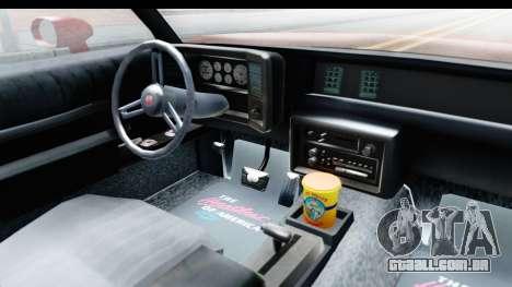 Chevrolet Monte Carlo Breaking Bad para GTA San Andreas vista interior