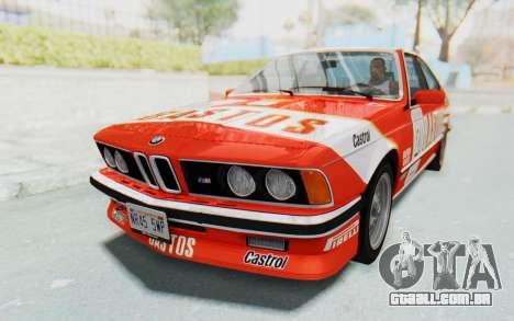 BMW M635 CSi (E24) 1984 HQLM PJ3 para GTA San Andreas vista interior