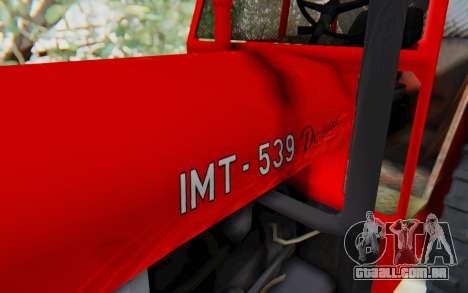 IMT 539 Deluxe para GTA San Andreas vista traseira