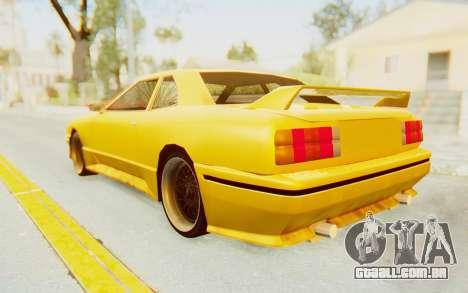Elegy E30 para GTA San Andreas traseira esquerda vista