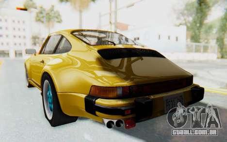 Porsche 911 Turbo 3.2 Coupe (930) 1985 para GTA San Andreas esquerda vista