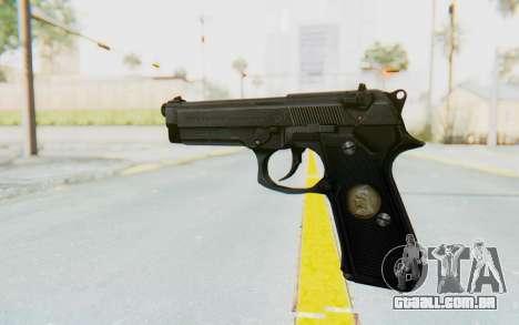 Tariq Iraqi Pistol Back v1 Black para GTA San Andreas segunda tela